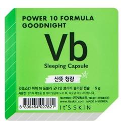 It's Skin Power 10 Formula Good Night Sleeping Capsule Vb Regulująca dwufazowa maseczka całonocna w kapsułce 5g