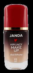 JANDA Kryjący make-up fluid fleksyjny 03 Beż 30ml