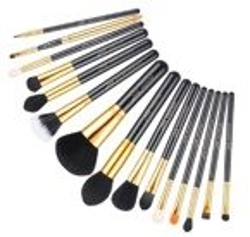 Jessup T093 Black&Gold Zestaw 15 pędzli do makijażu