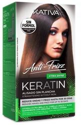 KATIVA Anti-Frizz XTRA SHINE Zestaw do keratynowego prostowania włosów. Ekstra połysk