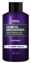 KUNDAL Honey&Macadamia Treatment AMBER VANILLA Odżywka do włosów Wanilia 100ml