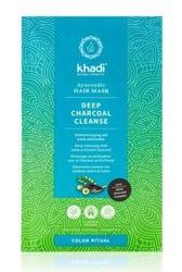 Khadi Deep Charcoal Cleanse Hair Mask Maska do włosów z aktywnym węglem 50g