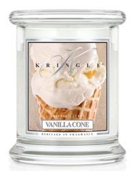Kringle Candle Medium Classic Vanilla Cone - Słoik świeca średnia 240g