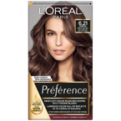 LOREAL PARIS RECITAL PREFERENCE Farba do włosów 6.21 popielaty jasny brąz