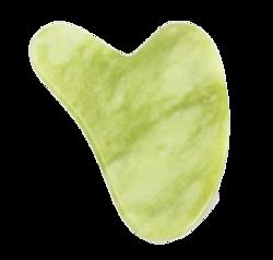 LashBrow Kamień Gua Sha do masażu twarzy Zielony Jadeit