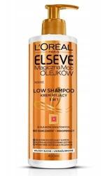 Loreal Elseve Low Shampoo Magiczna moc olejków 3w1 Krem myjący do włosów 400ml