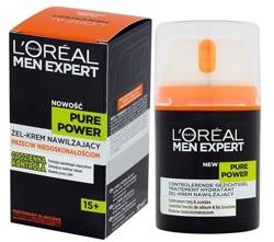 Loreal Men Pure Power Żel-krem nawilżający przeciw niedoskonałościom 50ml