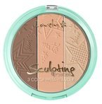 Lovely Sculpting Powder 3 Color Press Powder Paleta do konturowania 3 15g
