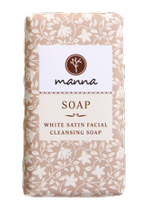 MANNA mydło w kostce White Satin Facial Cleansing Soap 90g