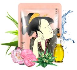 MITOMO maska UKIYO-E Matcha+Kwiat Camelli Maska z ekstraktem z zielonej herbaty matcha i wyciągiem z kwiatów camelii japońskiej 25g