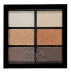 MUA 6 Shade Palette Paletka 6 cieni do powiek Glamour Golds