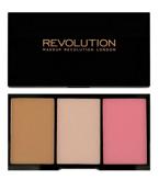 Makeup Revolution Iconic Pro Blush, Bronze & Brighten Palette - Paleta do konturowania twarzy Smoulder