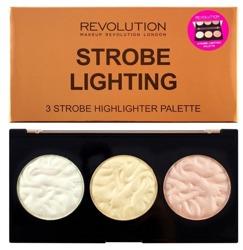 Makeup Revolution Strobe Lighting Palette - Paleta 3 rozświetlaczy do strobingu