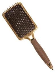 Olivia Garden Szczotka do włosów Nanothermic NT-PDL Paddle gold/brown