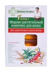 Receptury Babuszki Agafii Miodowo-ziołowy kompleks do włosów w ampułkach 7x5ml