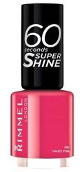 Rimmel 60 Seconds Szybko schnący lakier do paznokci 006 Haute pink 8ml
