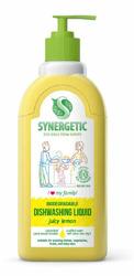 SYNERGETIC Dishwasher Liquid Family Juicy Lemon Biodegradowalny żel do mycia naczyń Soczysta cytryna 500ml