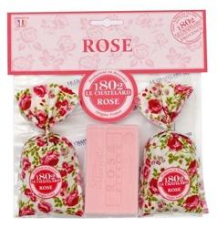 Satis Zestaw 2 woreczków zapachowych Różanych + Mydło marsylskie