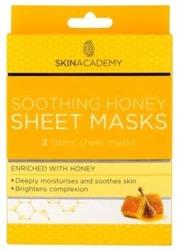 SkinAcademy Sheet Mask Smoothing Honey Kojąca miodowa maseczka do twarzy  2szt.