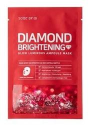SomeByMi Diamond Brightening Glow Luminous Ampoule Mask Rozjaśniająca maska w płachcie 25g
