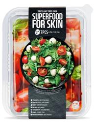 SuperFood For Skin Zestaw 7 maseczek w płachcie do skóry suchej i zmęczonej
