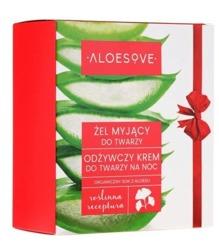 Sylveco Aloesove Zestaw Żel myjący do twarzy 150ml + Odżywczy krem na noc 50ml