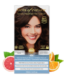 Tints of Nature Farba do włosów 4N Naturalny średni brąz