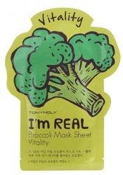 TonyMoly I'm Real Broccoli Mask Sheet Vitality Rewitalizująca maska w płachcie