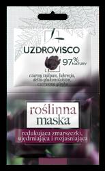 UZDROVISCO Maska roślinna redukująca zmarszczki Czarny tulipan/Lukrecja 2x5ml