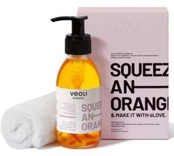VEOLI Zestaw Olejek 2w1 do demakijażu i masażu twarzy + ręcznik do twarzy
