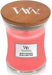 WoodWick świeca średnia Melon&Pink Quartz 275g