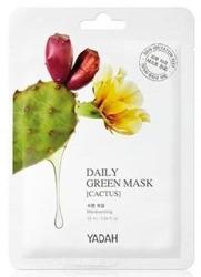 YADAH Daily Green Mask Cactus Nawilżająca maska z opuncją figową 25ml