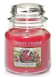Yankee Candle Red raspberry Świeca zapachowa słoik średni 411g