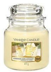 Yankee Candle Świeca zapachowa Słoik średni Homemade Herb Lemonade 411g