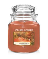 Yankee Candle Świeca zapachowa Słoik średni Woodland Road Trip 411g