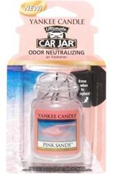 Yankee Candle car jar Ultimate  - Odświeżacz samochodowy Zawieszka słoik Pink Sands 1szt.