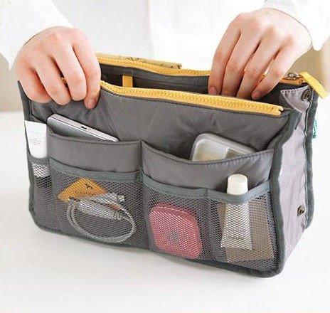 Kosmetyczka Szara organizer do torebki