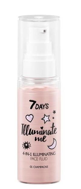 7Days Illuminate Me Rozświetlający fluid 4w1 Rose Girl 50ml