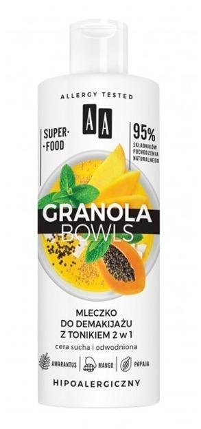 AA Granola Bowls mleczko do demakijażu z tonikiem 2w1 400ml