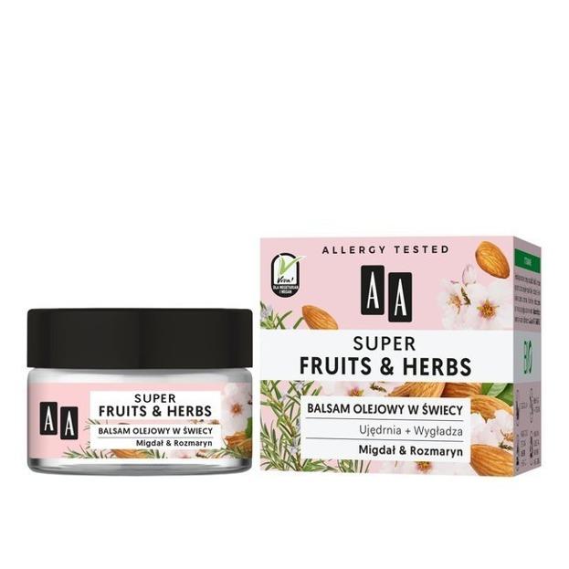 AA Super Fruits&Herbs balsam olejowy w świecy Migdał&Rozmaryn 50g