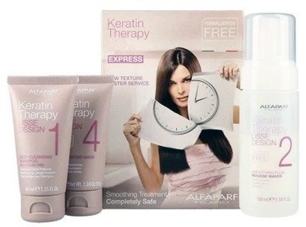 Alfaparf Lisse Keratin Therapy Express Zestaw do keratynowego prostowania włosów