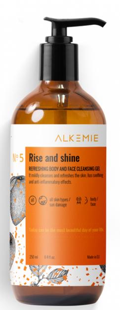 Alkmie RISE AND SHINE Odświeżający żel do mycia  twarzy i ciała 250ml