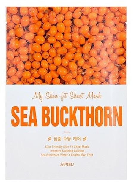 A'pieu My Skin Fit Sheet Mask Nawilżająco-kojąca maseczka w płachcie SEA BUCKTHORN
