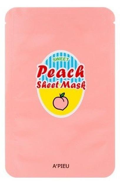 A'pieu Wygładzająca maska w płachcie SWEET PEACH Sheet Mask