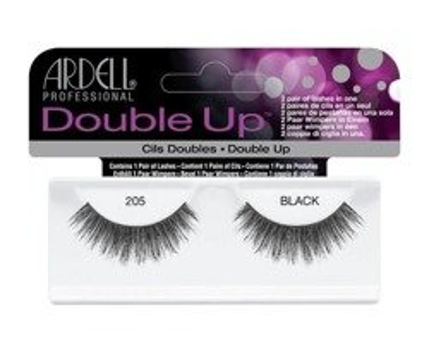 Ardell Double Up 205 Black - Sztuczne rzęsy czarne 1 para