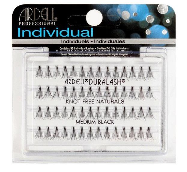 Ardell Individuals Duralash Naturals Knot-Free Naturals Medium Kępki sztucznych rzęs bez węzełków, średniej długości, czarne