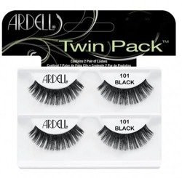 Ardell Twin Pack 101 Demi Black Sztuczne rzęsy w pasku Czarne 2 pary