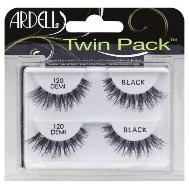Ardell Twin Pack Zestaw sztucznych rzęs w pasku 120 Black 2 pary