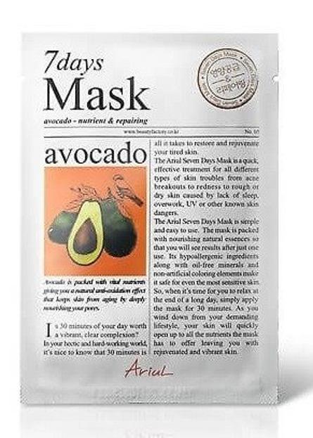 Ariul 7 days Mask Avocado Maska w płachcie odżywcza 20g