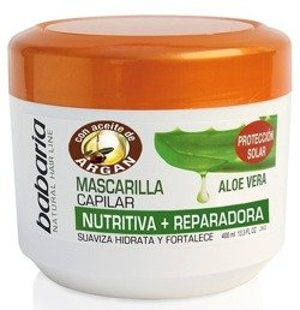 Babaria Maska odżywczo-regenerująca do włosów z aloesem 400ml